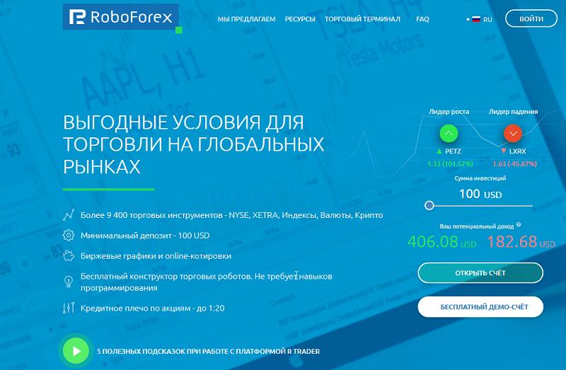 Бинарные опционы от «РобоФорекс»