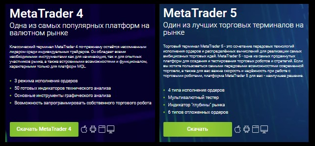 MetaTrader (MT4 и MT5)